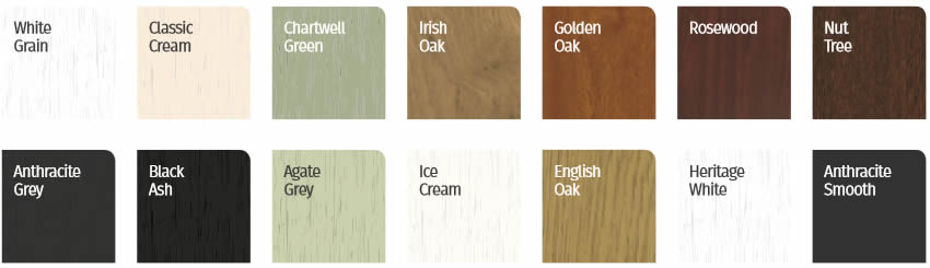 Flush sash colours