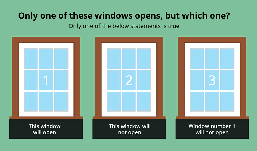 3 Windows Brainteaser