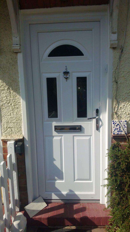 grey upvc front door harlow