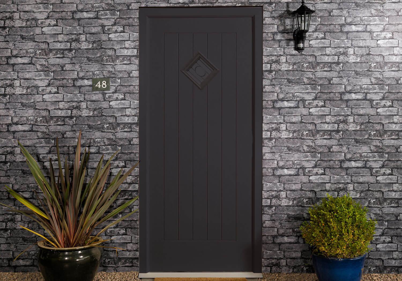 black composite door harlow