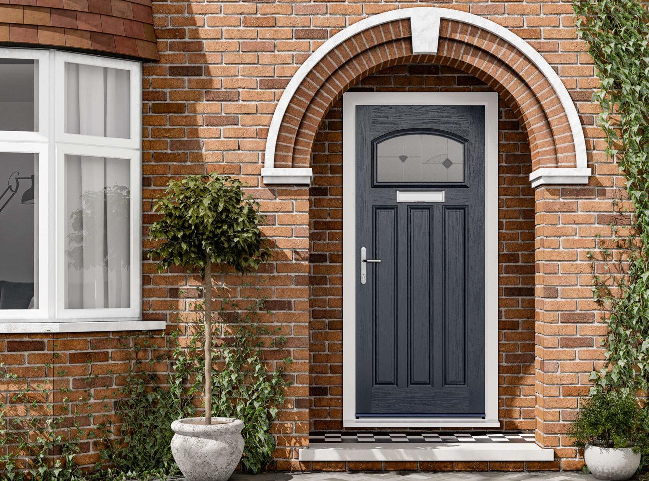 grey composite door harlow